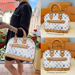 🌈✨ALMA✨🌈 Auth Louis Vuitton Multicolor Hand Bag!